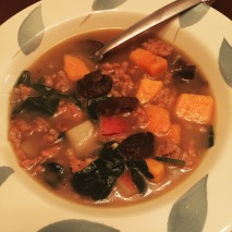 Best new recipe of the week - Sausage and sweet potato soup
