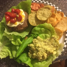 Hamburgers and guacamole - staple in a hurry